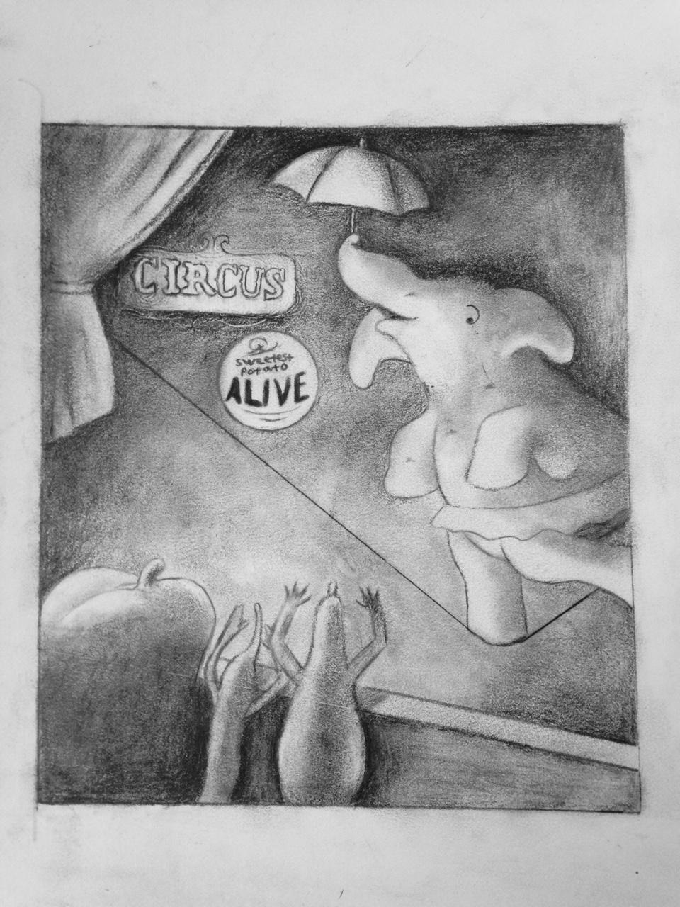 Veggie Circus – Scene Diorama to Pencil