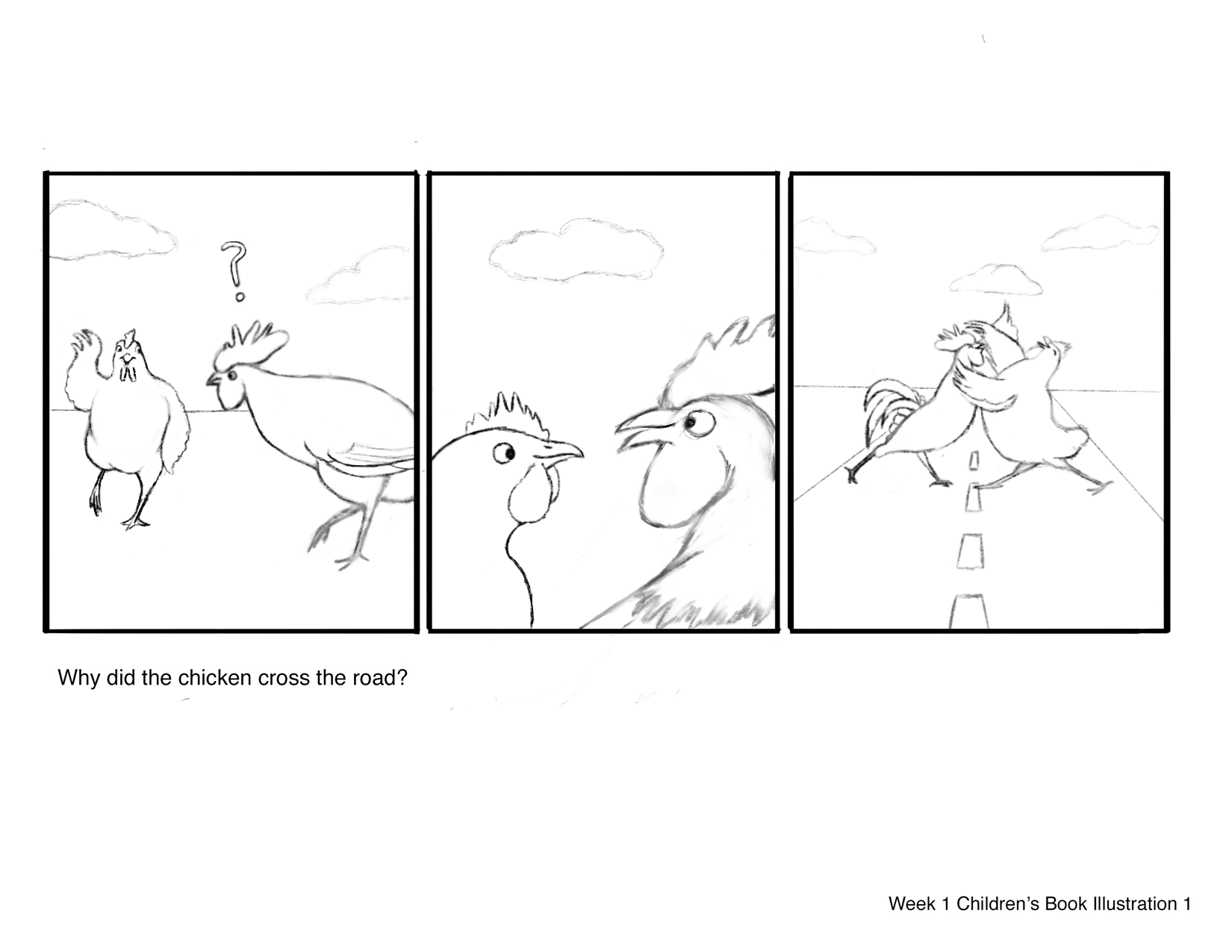 Sequential Art – Why Did the Chicken Cross the Road?